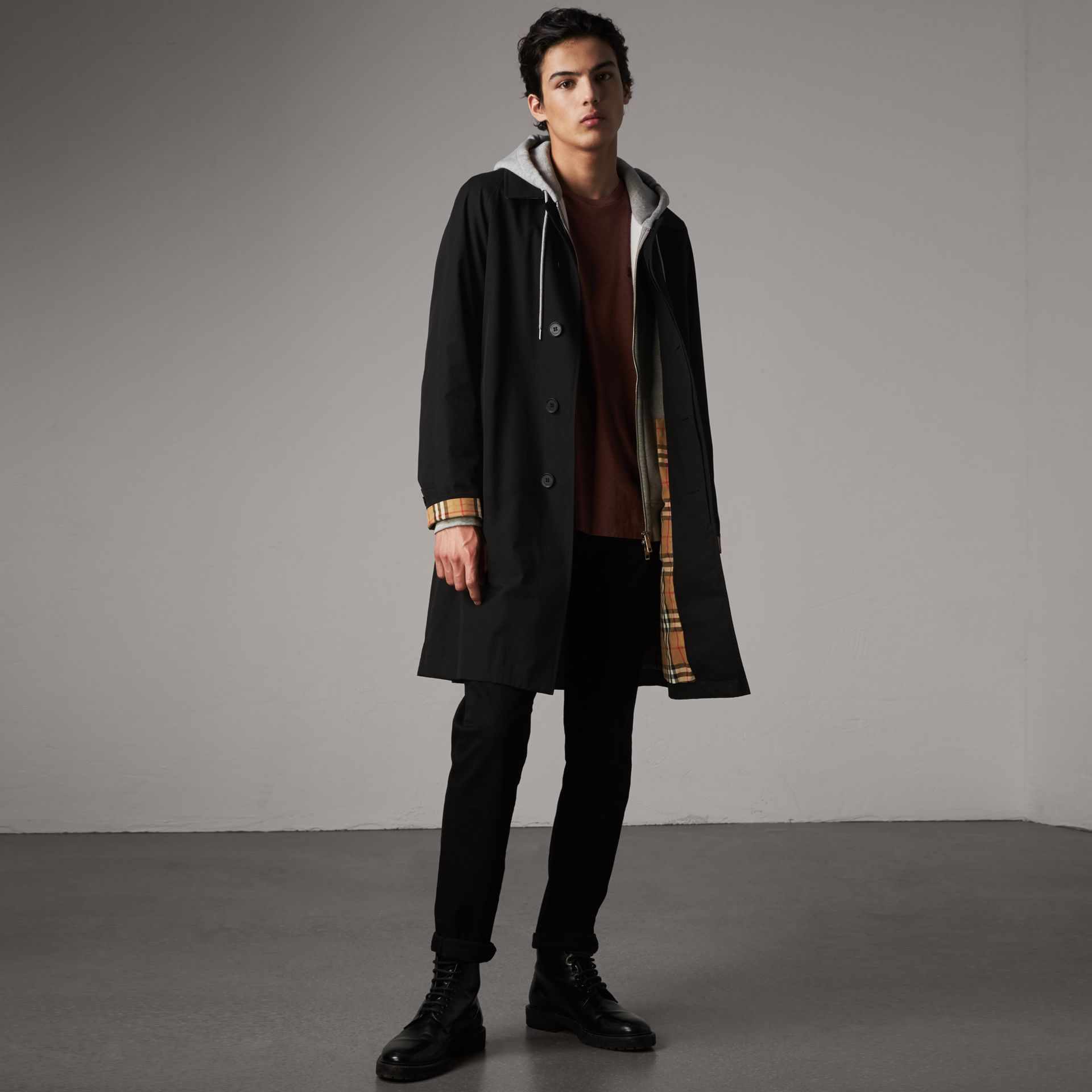 The Camden Car Coat in Black - Men | Burberry - gallery image 0
