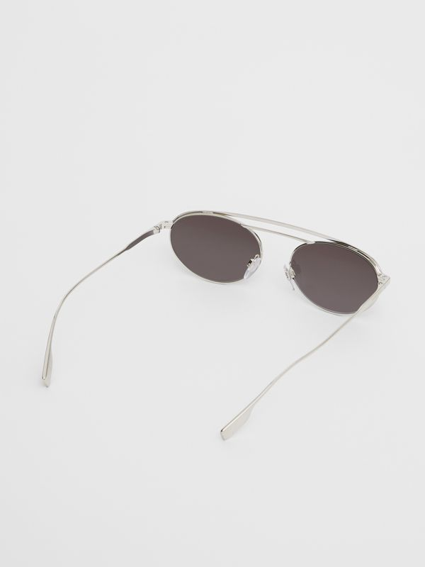 Oval Frame Sunglasses in Grey - Women | Burberry Australia - cell image 3