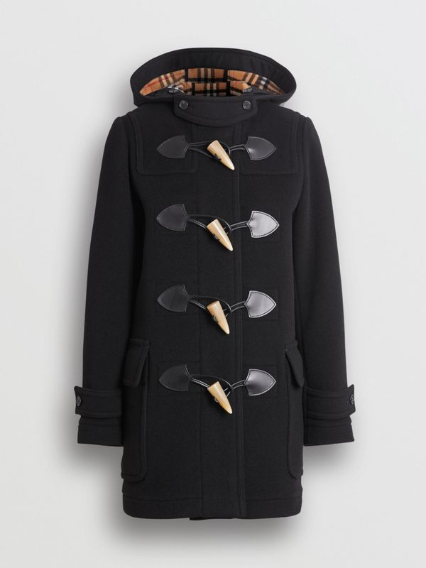 Wool Blend Duffle Coat in Black - Women | Burberry - cell image 3