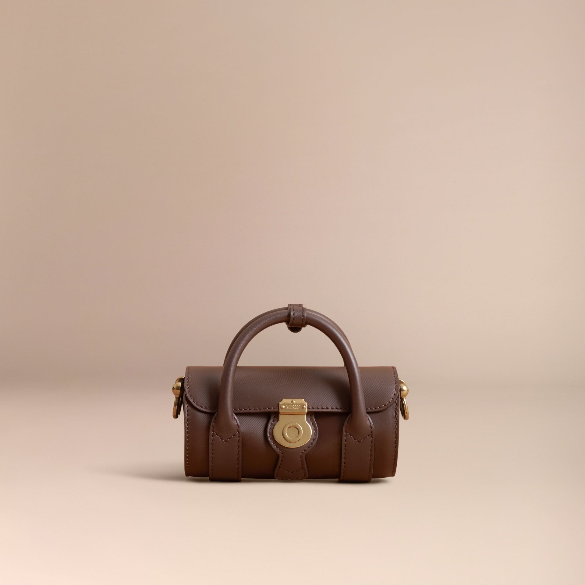 The Mini DK88 Barrel Bag in Dark Chocolate - Women | Burberry - gallery image 6