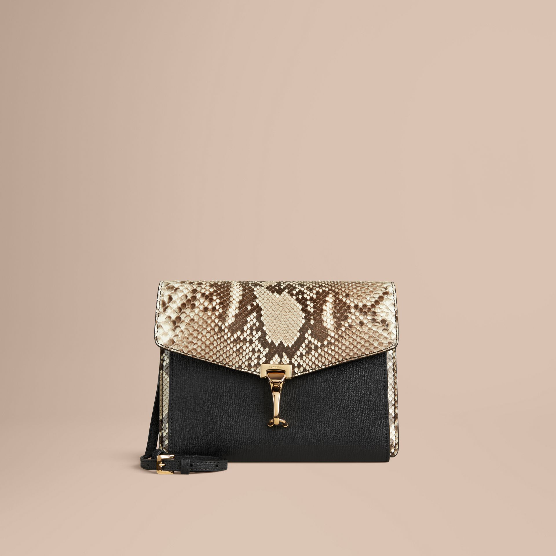 Small Python Crossbody Bag in Natural - Women | Burberry - gallery image 7