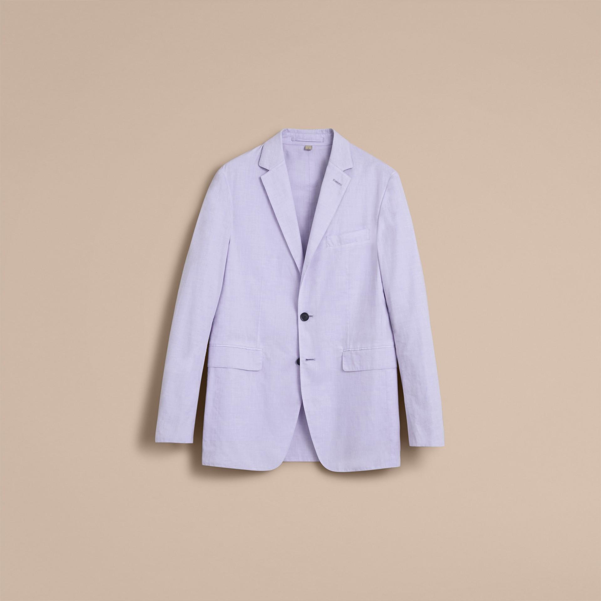 Lightweight Cotton Chambray Blazer - gallery image 4