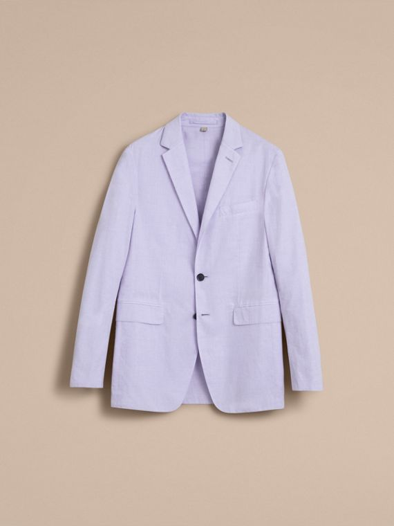 Lightweight Cotton Chambray Blazer - cell image 3