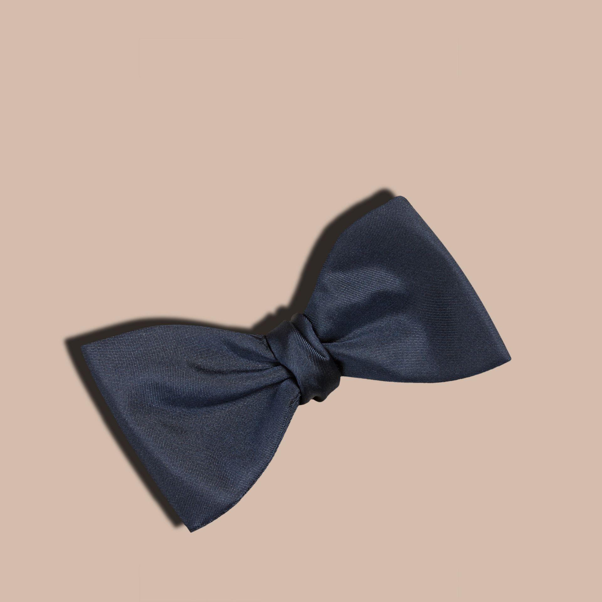 Navy Silk Bow Tie - gallery image 1