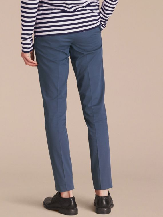 Slim Fit Stretch-Cotton Trousers - cell image 2