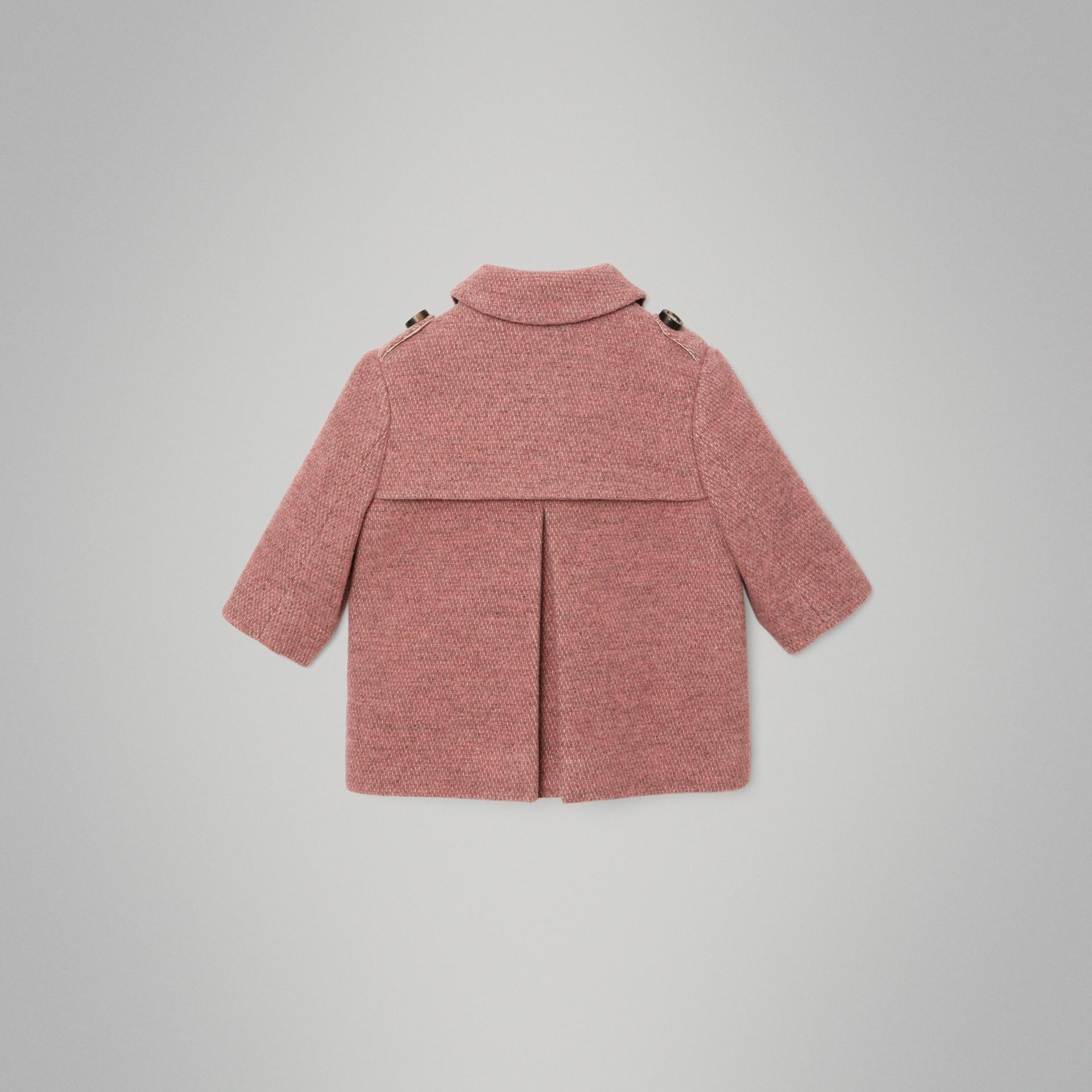 Pea coat in misto lana (Rosa Petalo Mélange) - Bambino | Burberry - immagine della galleria 3