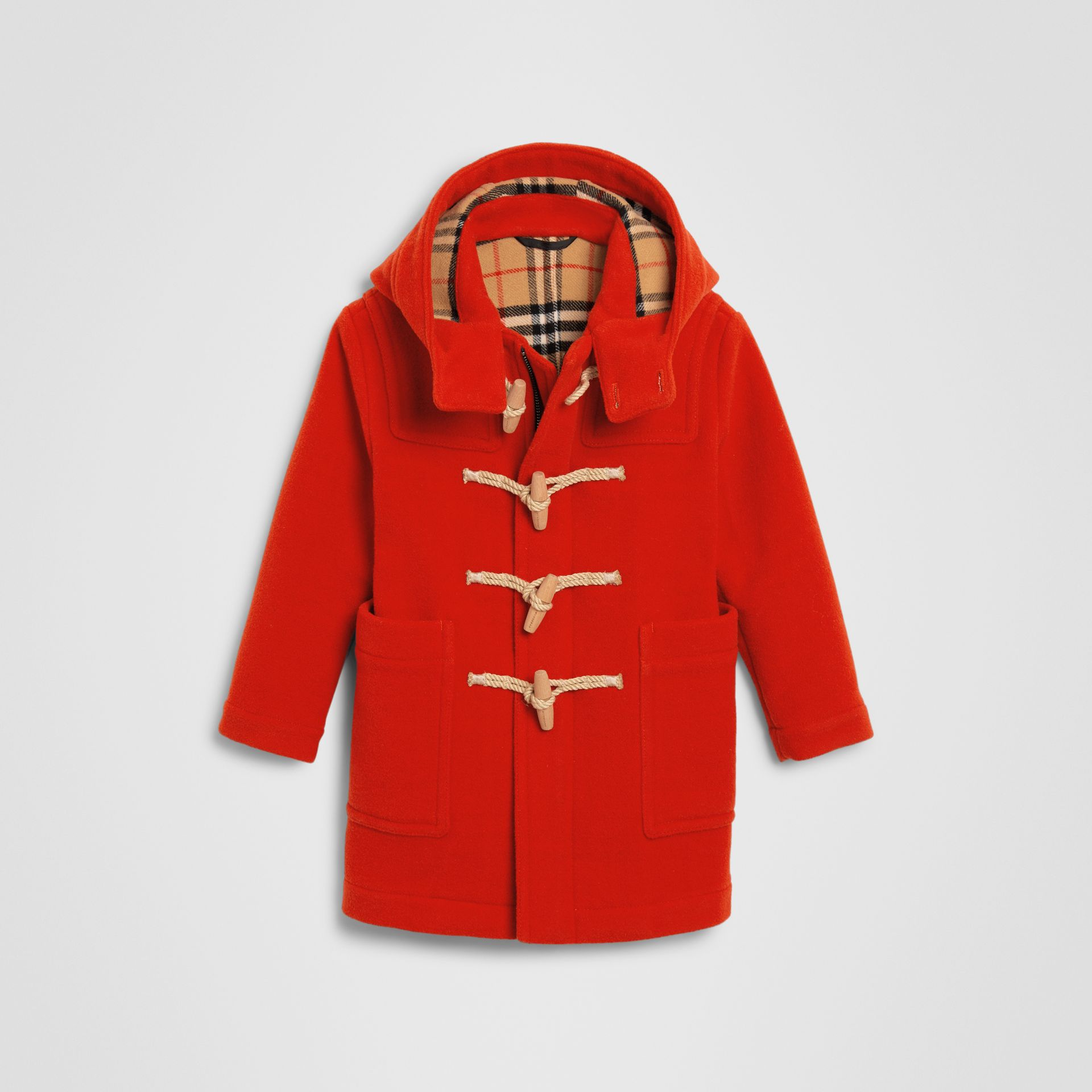 Double-faced Wool Duffle Coat in Orange Red | Burberry Hong Kong - gallery image 0