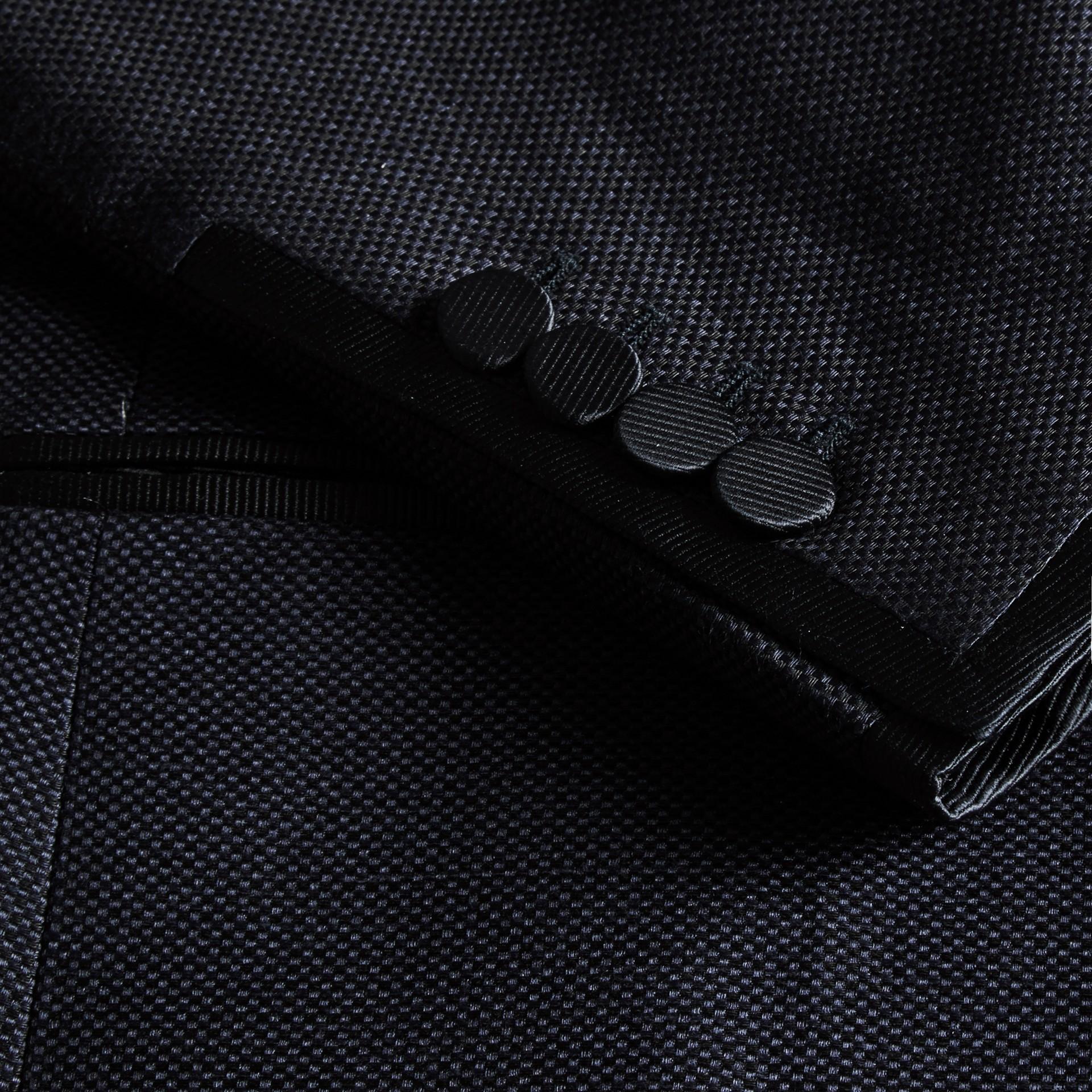 Slim Fit Shawl Lapel Linen Silk Evening Jacket Navy - gallery image 2