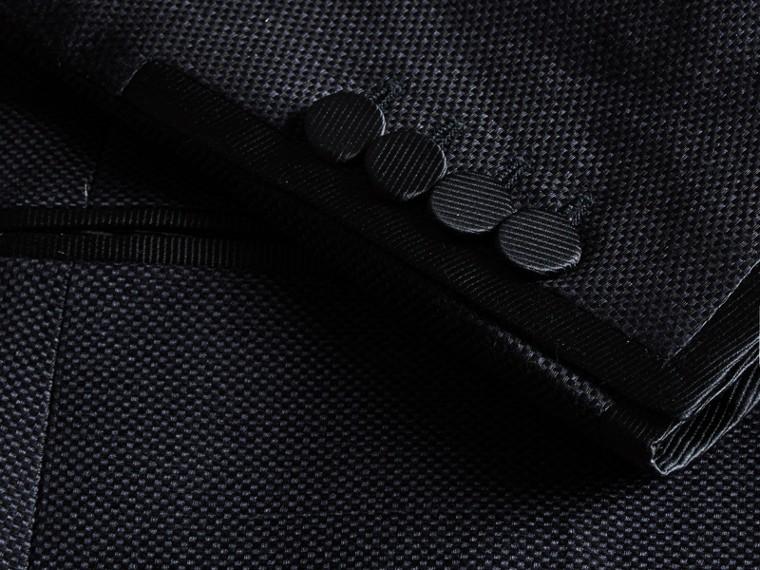 Slim Fit Shawl Lapel Linen Silk Evening Jacket Navy - cell image 1