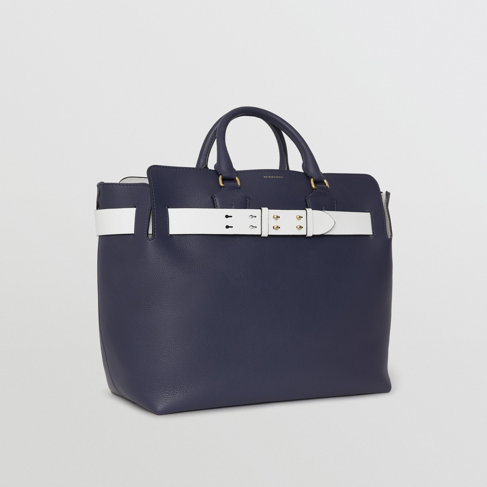 The Large Leather Belt Bag in Regency Blue | Burberry - gallery image 7