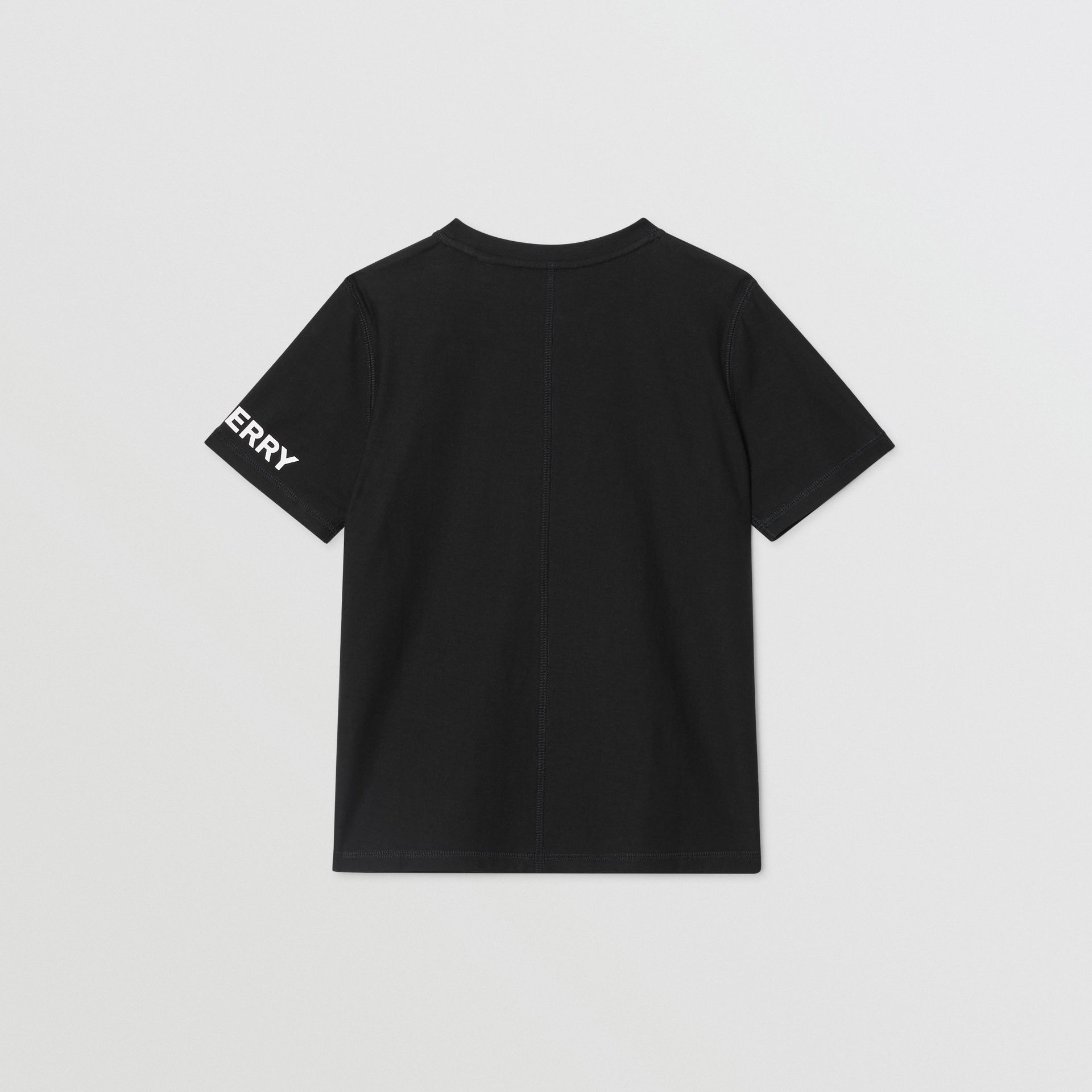 Logo Graphic Cotton T-shirt in Black | Burberry - gallery image 3