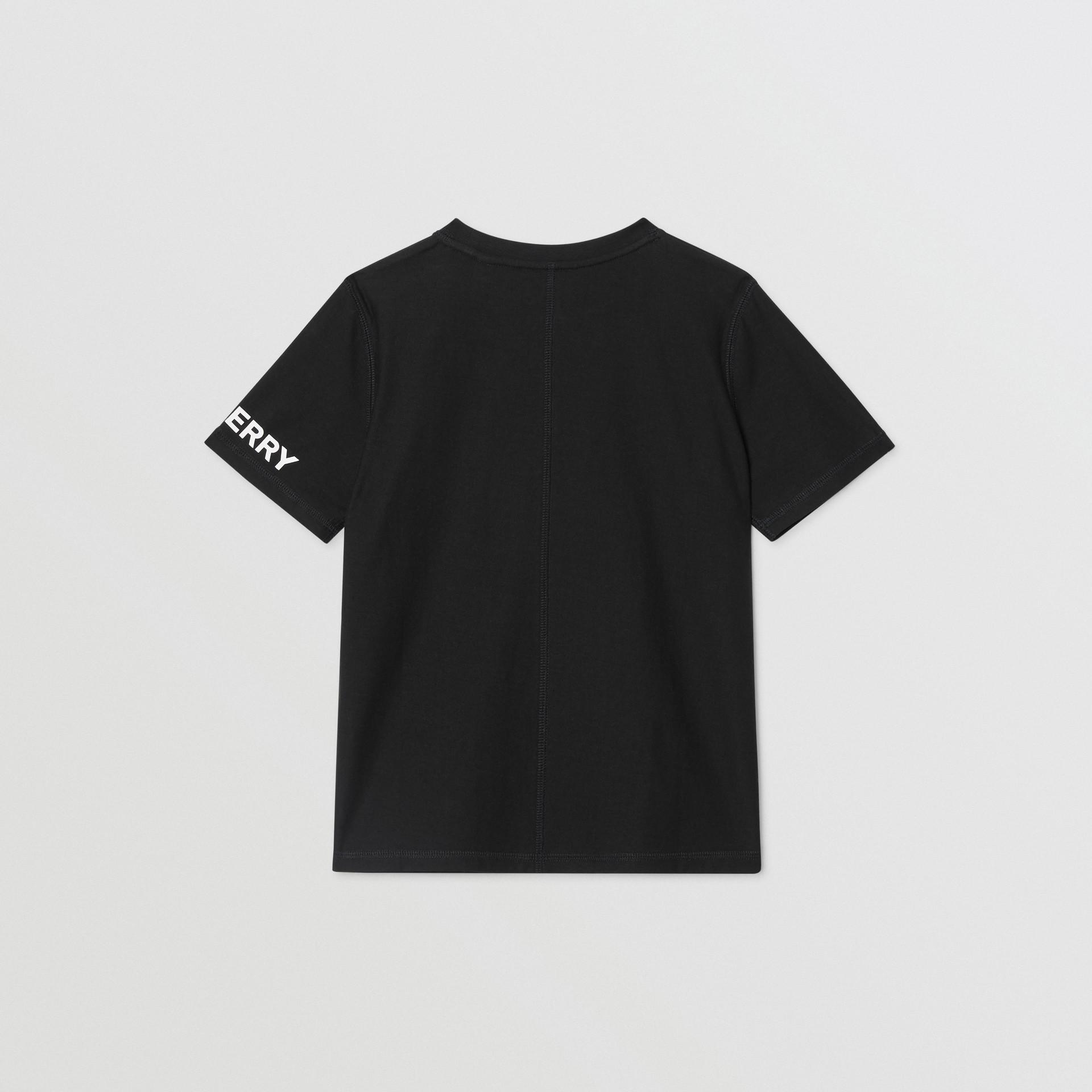 로고 그래픽 코튼 티셔츠 (블랙) | Burberry - 갤러리 이미지 3