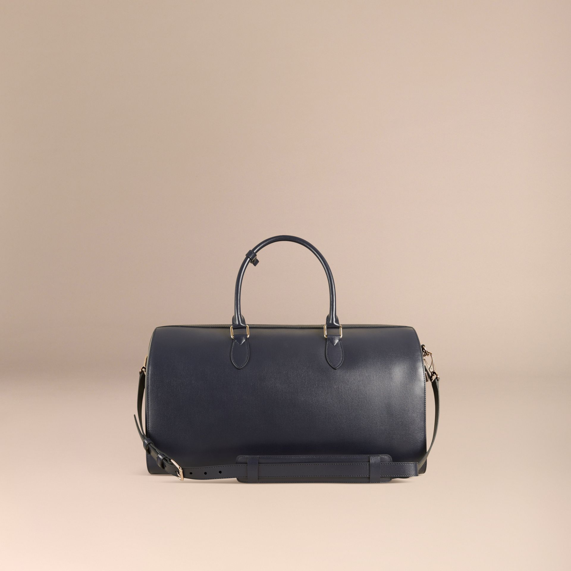 Dark navy London Leather Holdall Dark Navy - gallery image 5