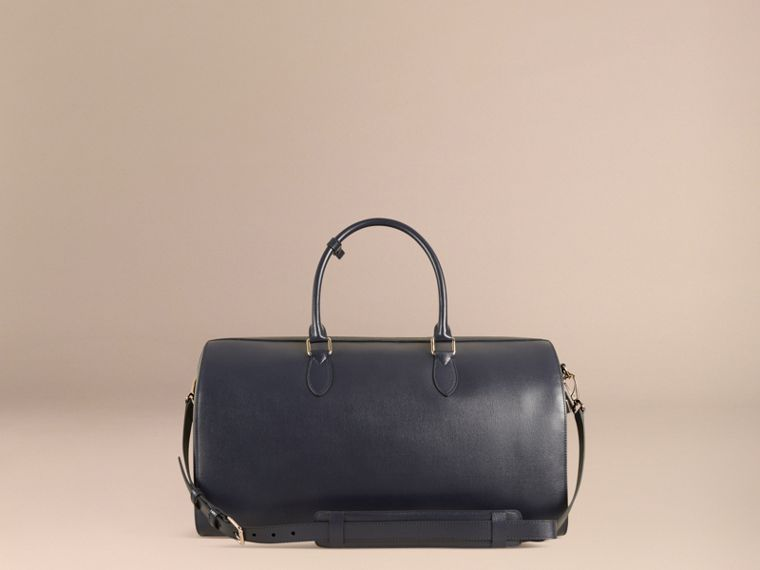 London Leather Holdall in Dark Navy - Men | Burberry - cell image 4
