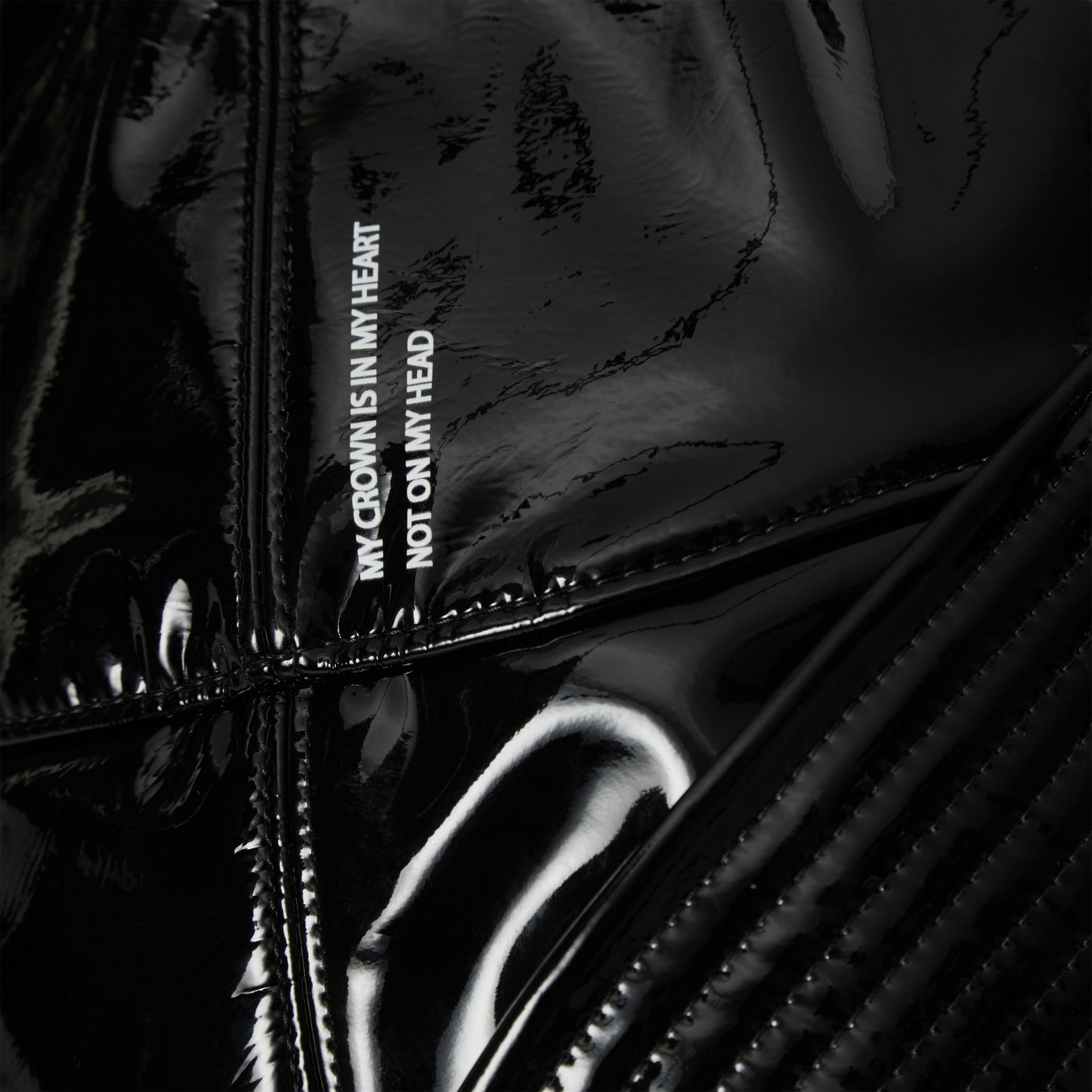Logo Print Rain Hat in Black | Burberry - gallery image 1