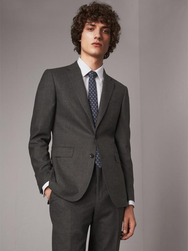 Cravatta dal taglio sottile in seta con motivo paisley (Blu Cipria) - Uomo | Burberry - cell image 2