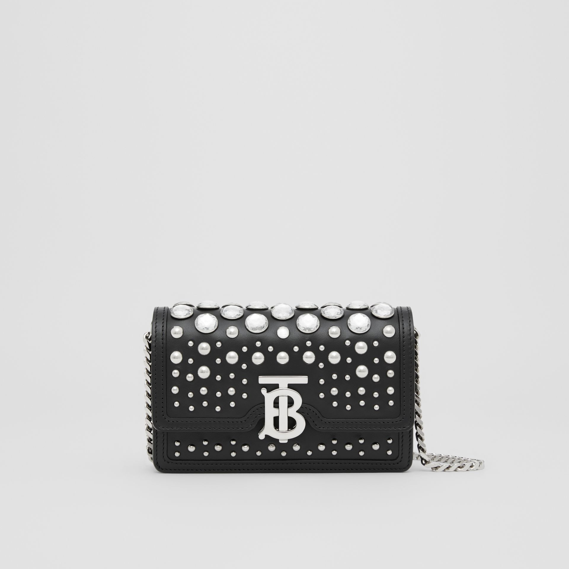 Mini Embellished Leather Shoulder Bag in Black - Women | Burberry - gallery image 0
