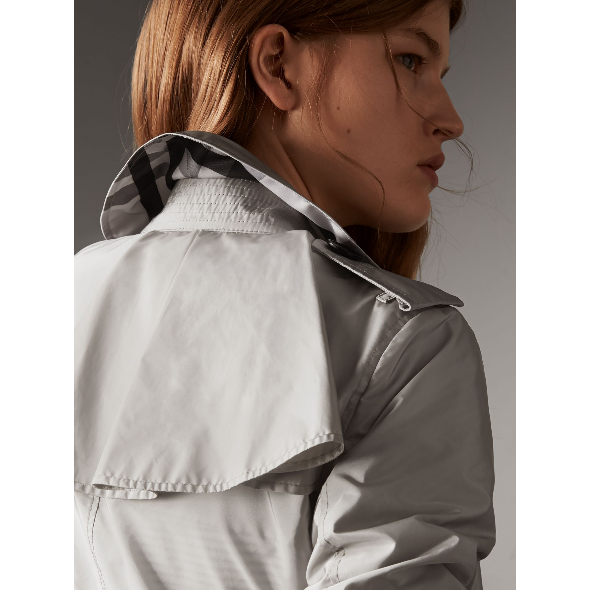 Showerproof Trench Coat in Pale Grey - Women | Burberry - gallery image 2