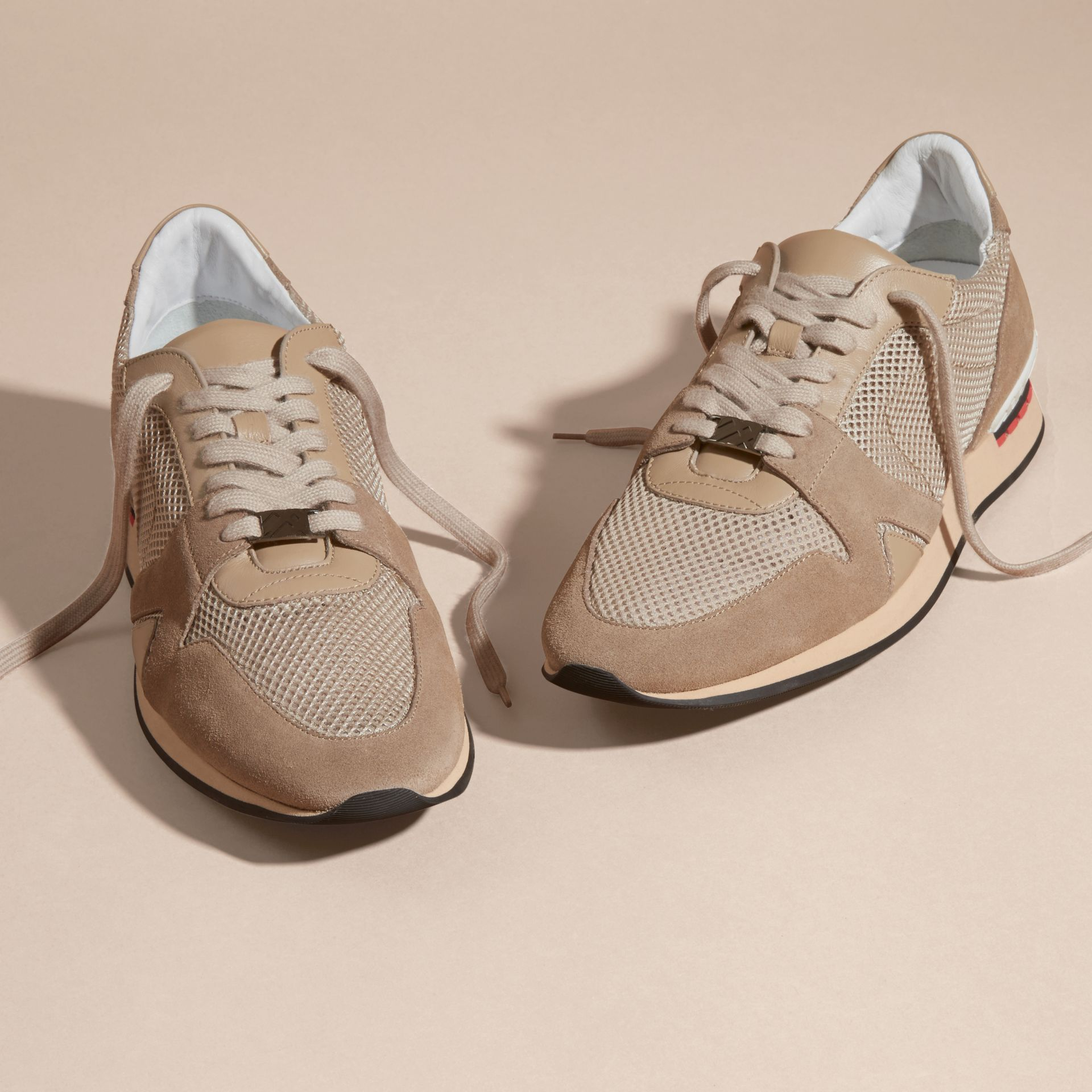 Camel The Field Sneaker in Suede and Mesh Camel - gallery image 3
