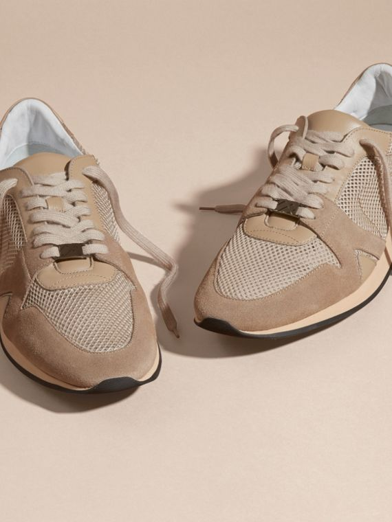 Camel The Field Sneaker in Suede and Mesh Camel - cell image 2