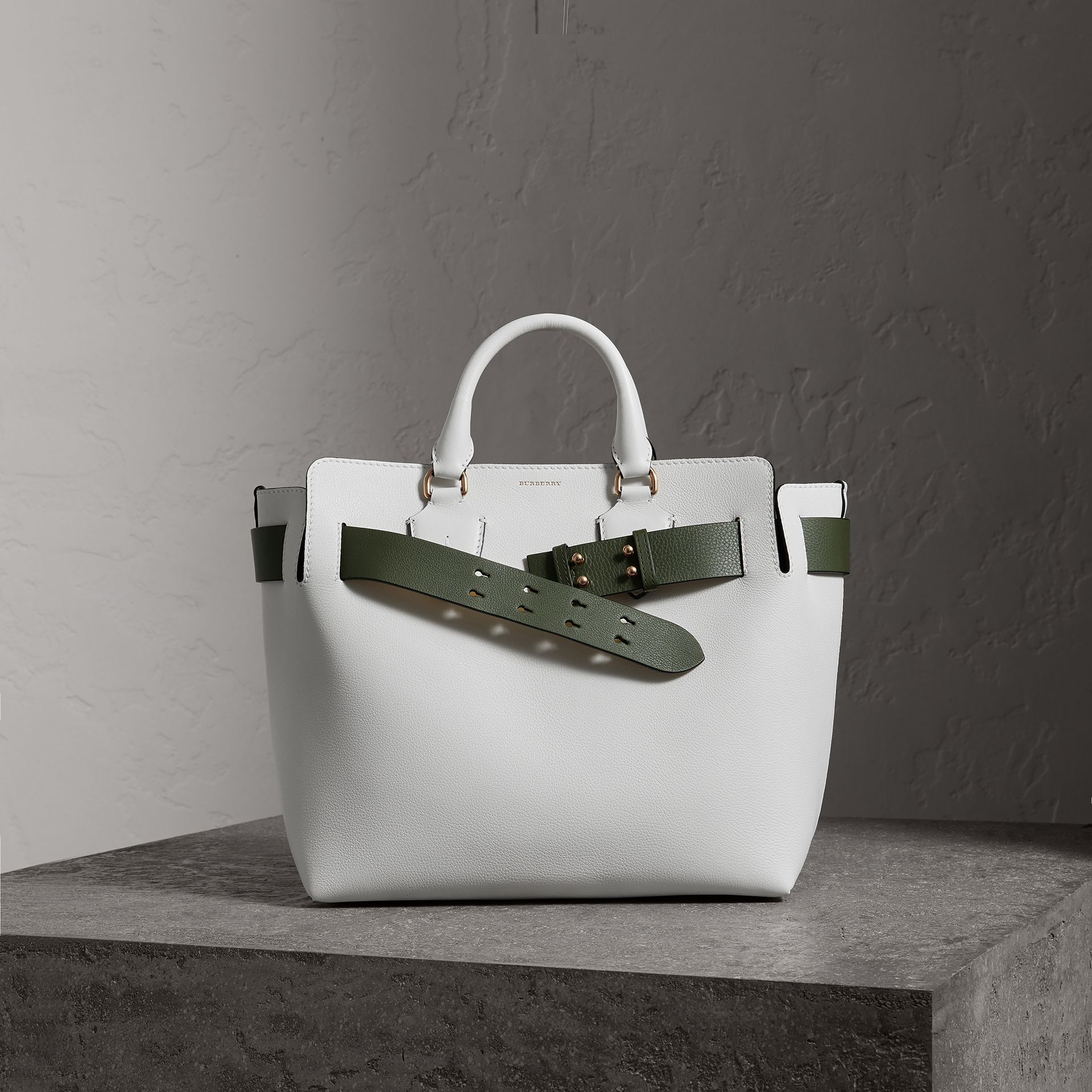 The Medium Leather Belt Bag in Chalk White - Women | Burberry - gallery image 0