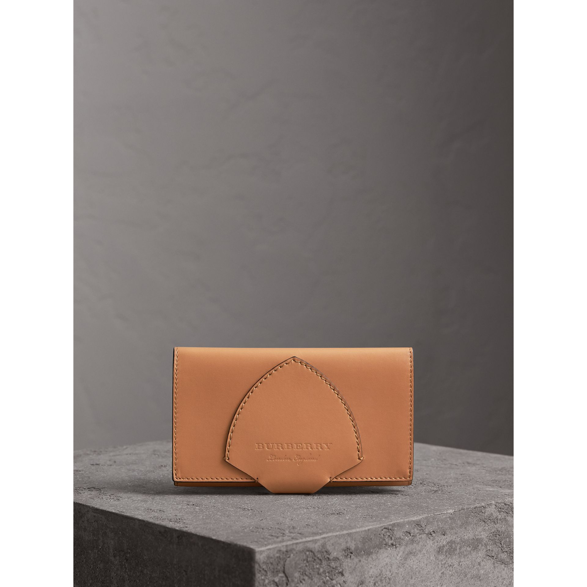 Equestrian Shield Leather Continental Wallet in Camel - Women | Burberry - gallery image 4