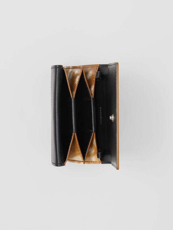 Deer Print Leather Card Case with Detachable Strap in Malt Brown - Women | Burberry - cell image 3