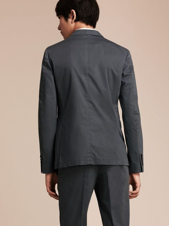 Mid grey Slim Fit Stretch-cotton Blazer Mid Grey - cell image 2