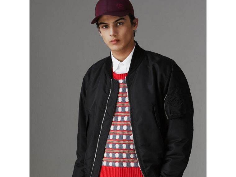 Nylon Bomber Jacket in Black - Men | Burberry - cell image 4