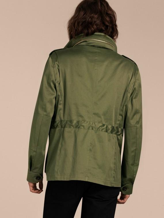 Olive Veste utilitaire en coton à capuche - cell image 2