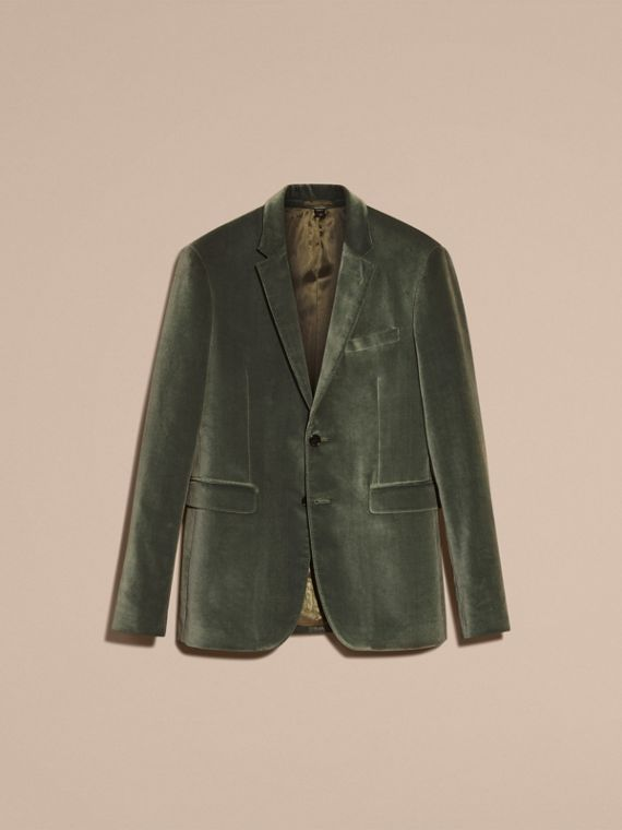 Pale eucalyptus Tailored Velvet Jacket - cell image 3
