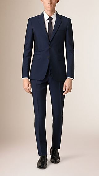 Slim Fit Wool Mohair Part-canvas Suit