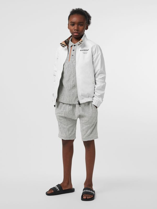 Veste Harrington réversible en coton à rayures iconiques (Blanc Optique) | Burberry Canada - cell image 2