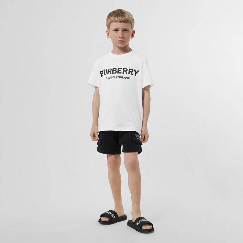 Burberry - T-shirt en coton avec logo imprimé - 5