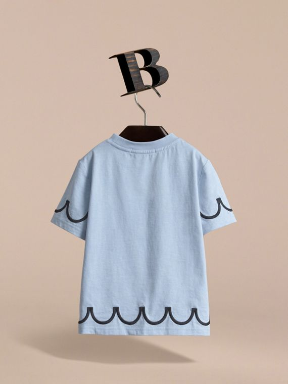 Lady Print Cotton T-shirt in Mineral Blue - Girl | Burberry - cell image 3