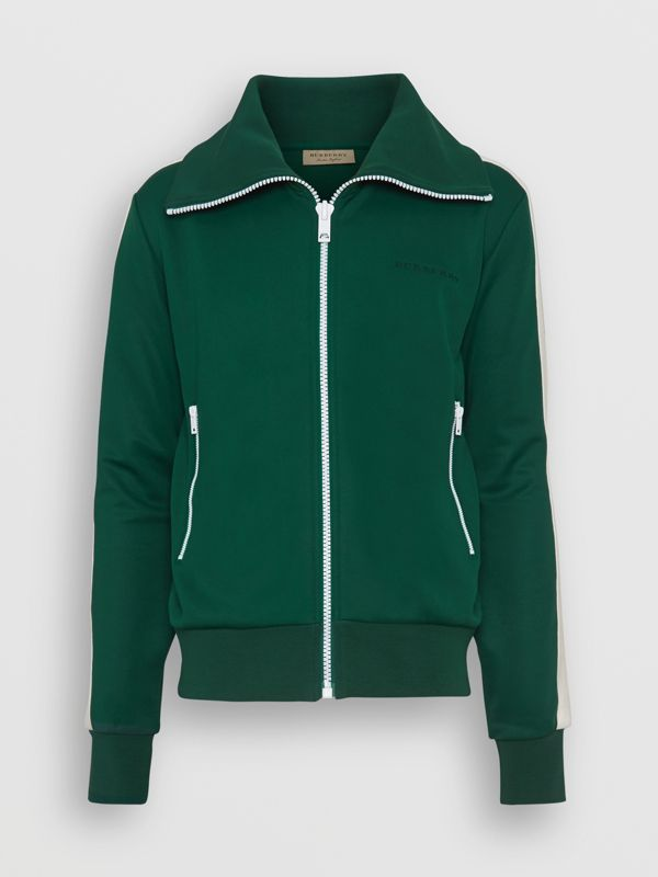 Stripe Detail Jersey Track Top in Opal Green - Men | Burberry - cell image 3