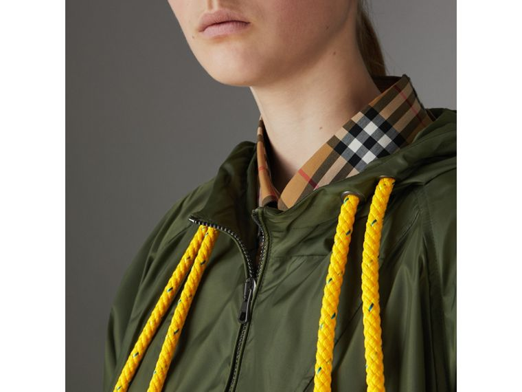 Oversized Nylon Cagoule in Light Olive - Women | Burberry - cell image 1