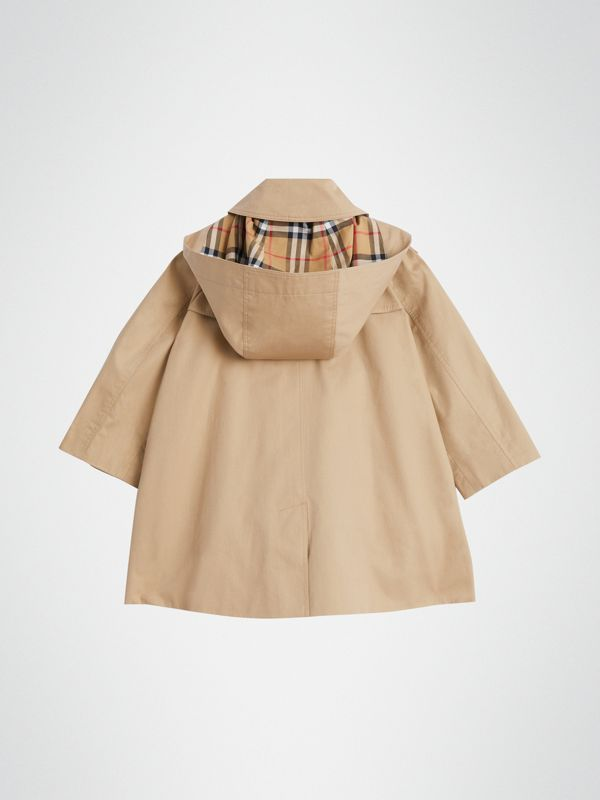 Detachable Hood Showerproof Cotton Swing Coat in Honey | Burberry Hong Kong - cell image 3