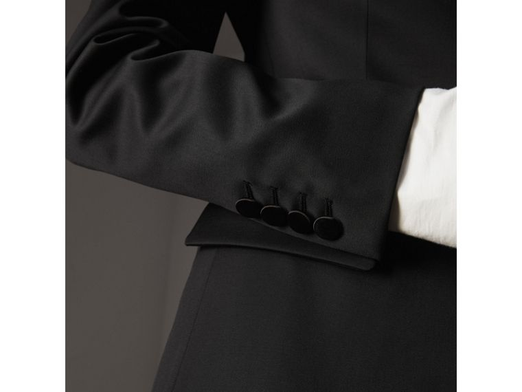Stretch Wool Tuxedo Jacket in Black - Women | Burberry - cell image 4