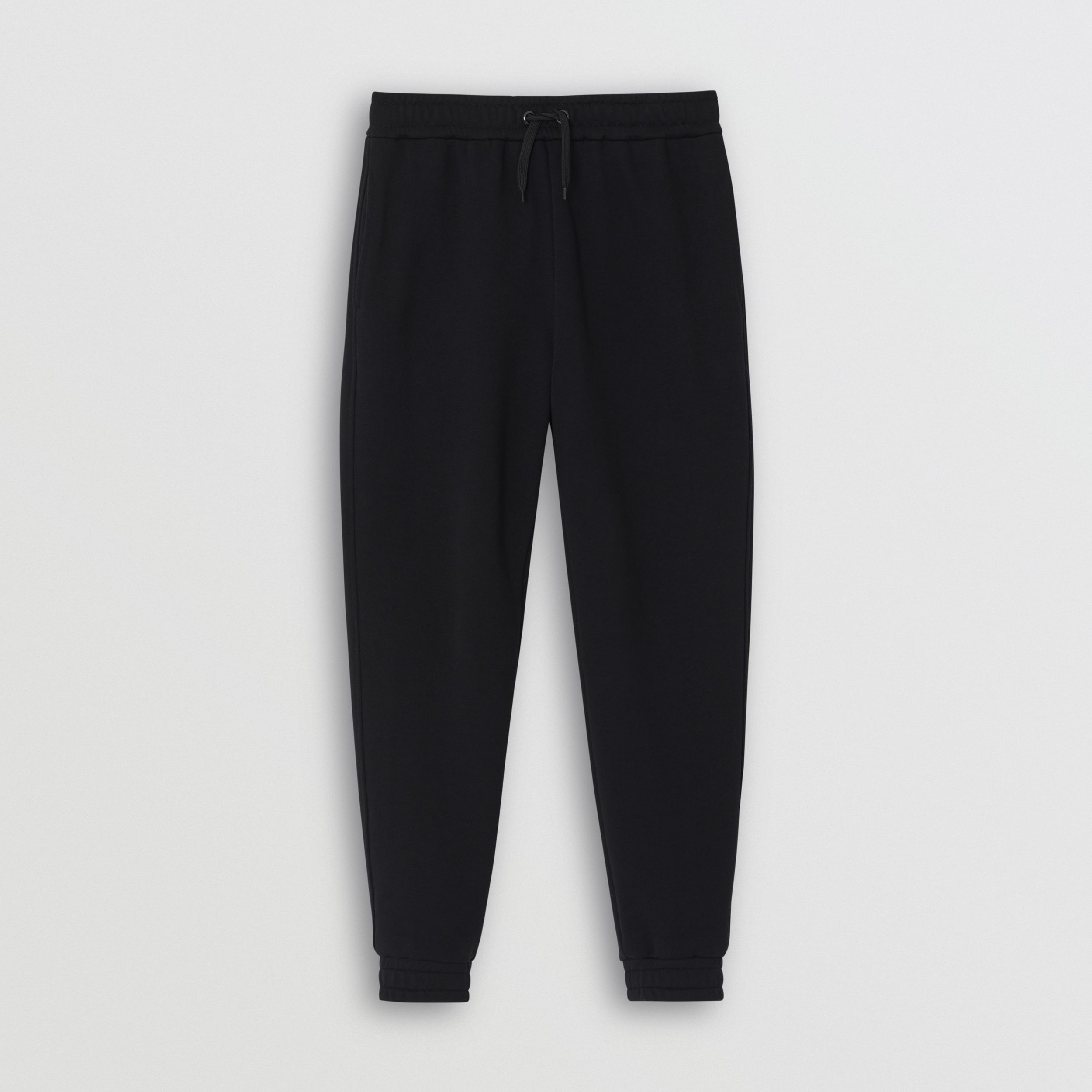 Logo Print Cotton Trackpants in Black - Men | Burberry - 4