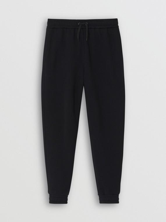 Pantalones deportivos en algodón con logotipo estampado (Negro)