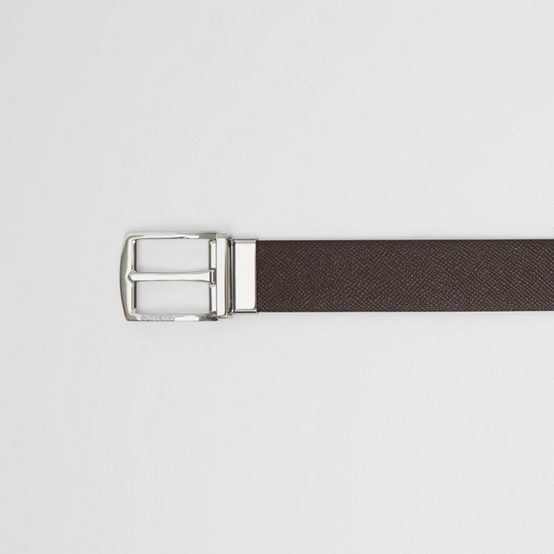 Burberry - Cinturón reversible en piel granulada - 2