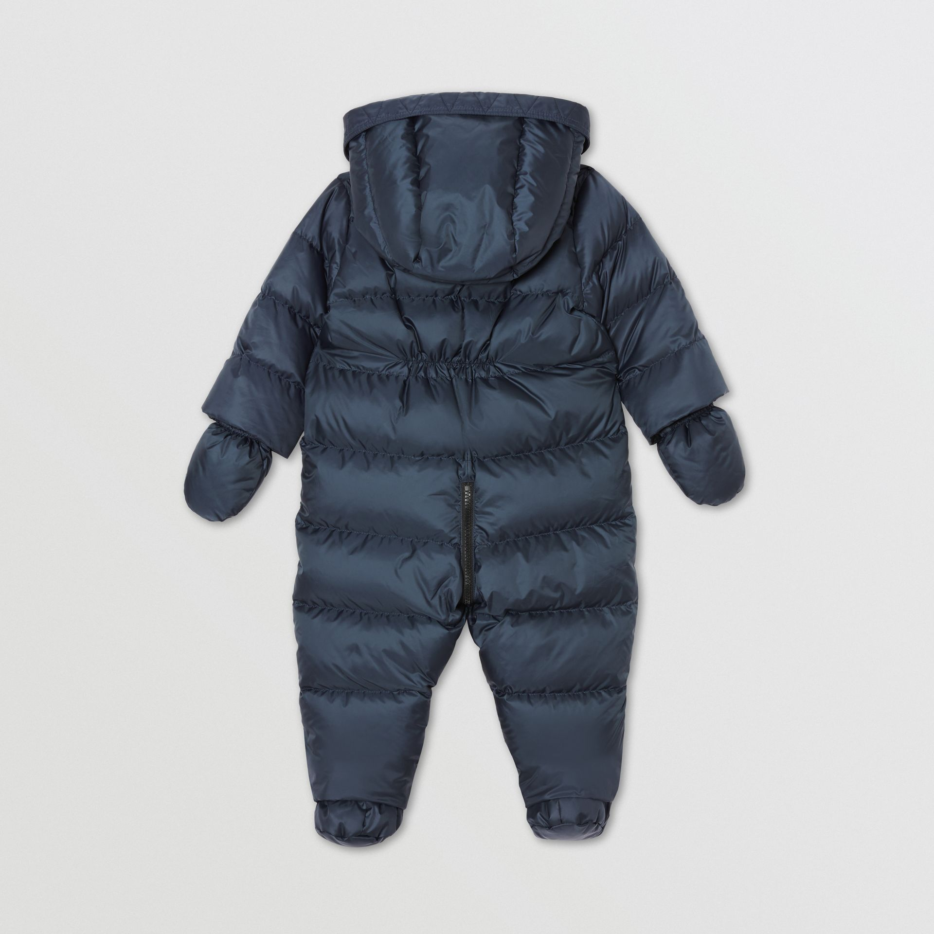 Logo Print Down-filled Puffer Suit in Navy - Children | Burberry United Kingdom - gallery image 5