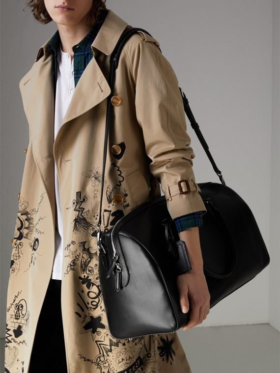 London 皮革手提包 (黑色) | Burberry - cell image 3