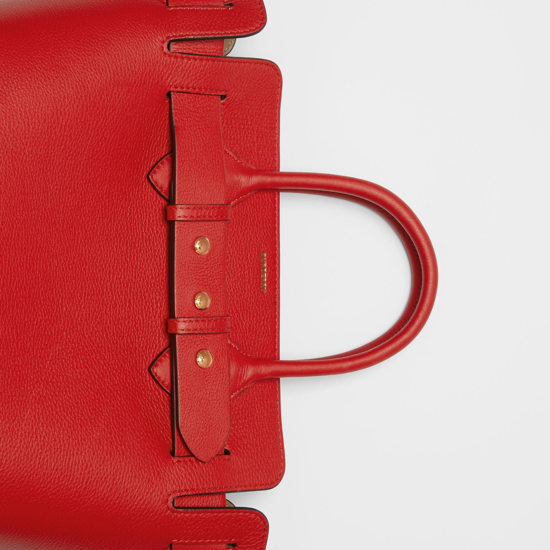 The Small Leather Triple Stud Belt Bag in Bright Military Red - Women | Burberry United Kingdom - gallery image 1