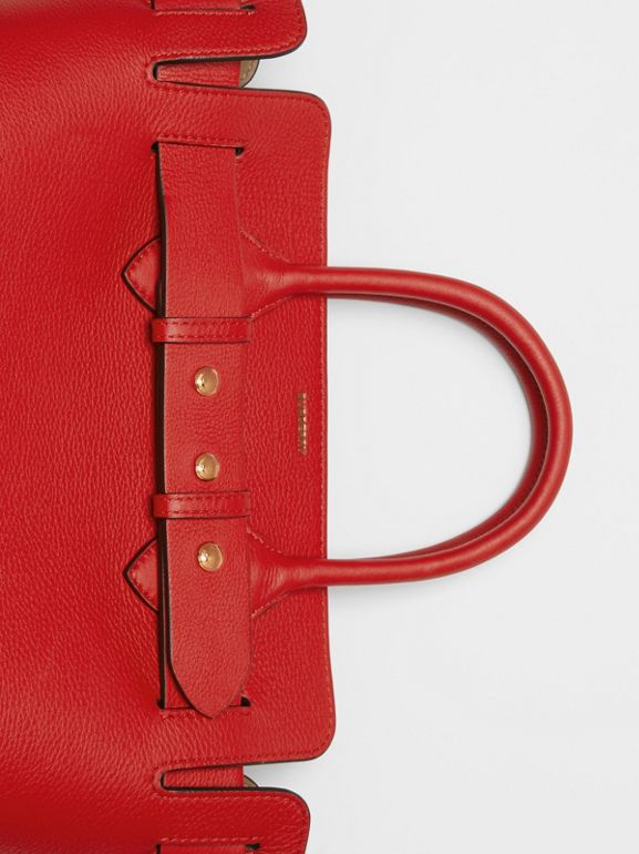 The Small Leather Triple Stud Belt Bag in Bright Military Red - Women | Burberry - cell image 1