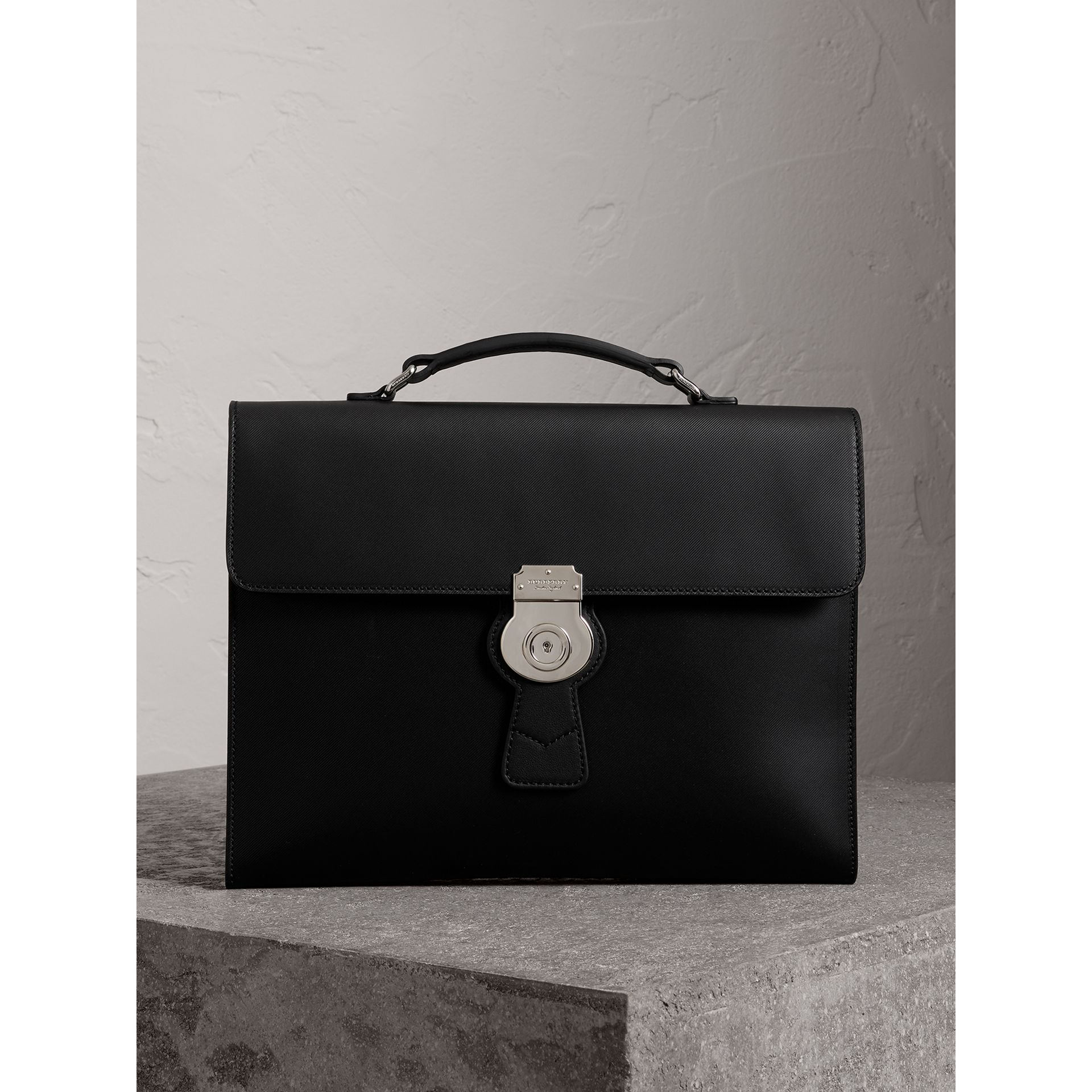 The Large DK88 Document Case in Black - Men | Burberry - gallery image 0