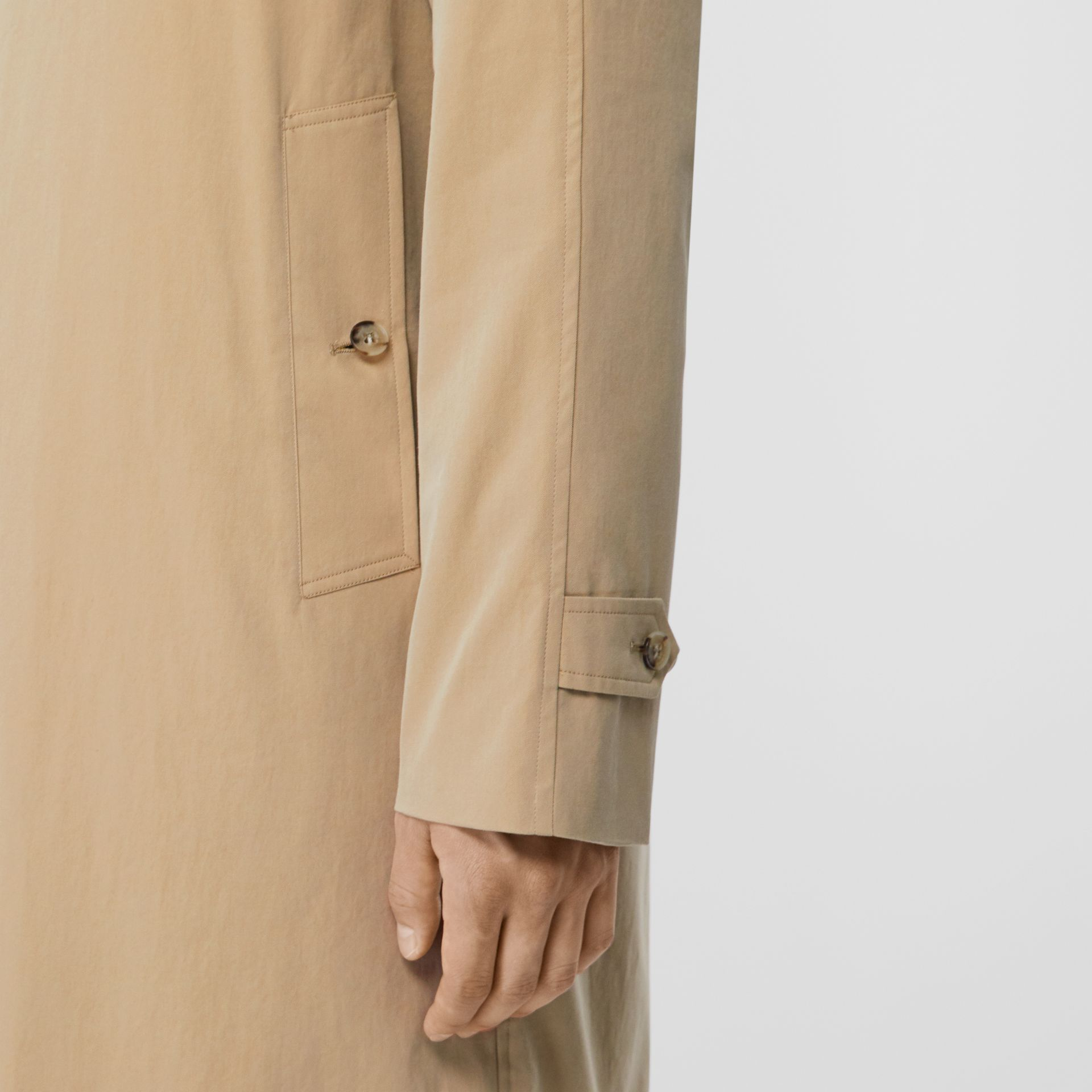 The Camden Car Coat in Honey - Men | Burberry United Kingdom - gallery image 3