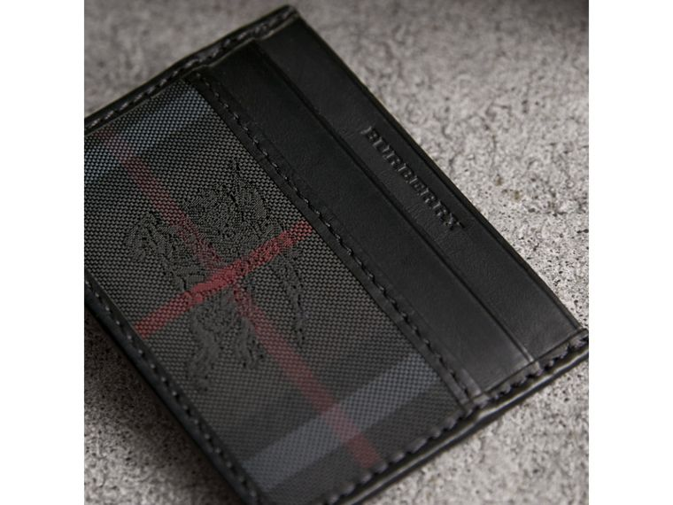 Horseferry Check Card Case in Charcoal/black - Men | Burberry - cell image 1