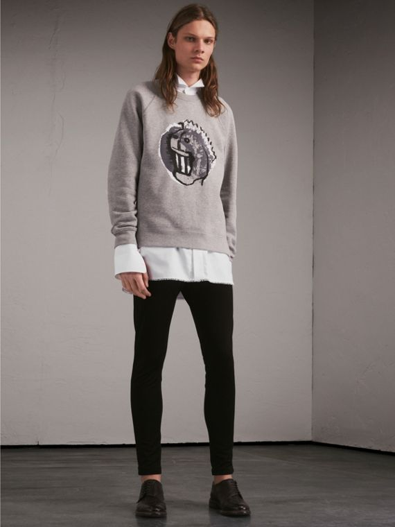 Unisex Pallas Heads Motif Sweatshirt - Women | Burberry - cell image 2